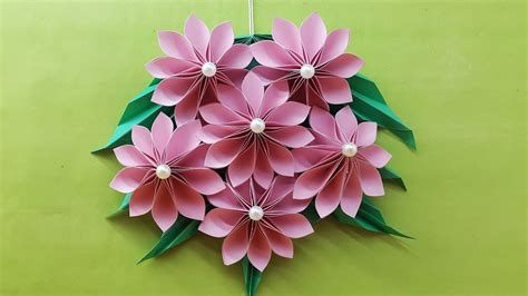 origami easy paper flower paper flower wall hanging