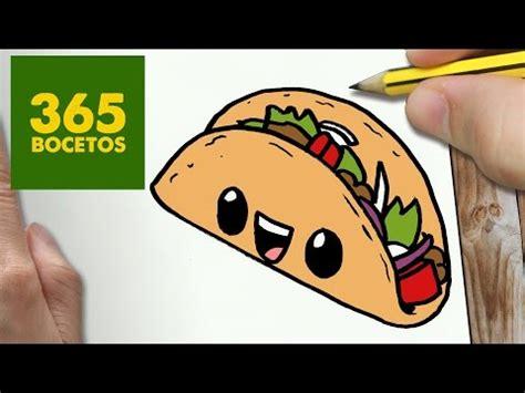 imagenes kawaii de comida para dibujar como dibujar taco kawaii