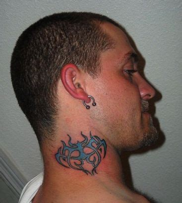 neck tattoos for men stars 3d shoulder neck tattoos picture for design idea