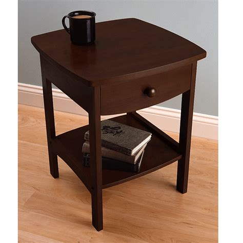 winsome wood nightstand with drawer walnut winsome wood open shelf night stand anitque walnut 94918