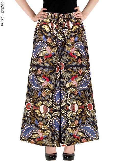 Kulot Motif Bunga Bahan Katun celana kulot batik murah model terbaru jual celana kulot