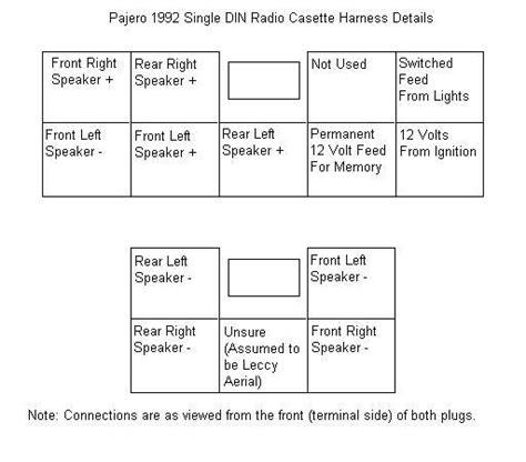 pajero radio wiring diagram car radio wiring diagram