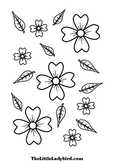 flower leaf coloring page flower leaf coloring pages coloring pages of attractive