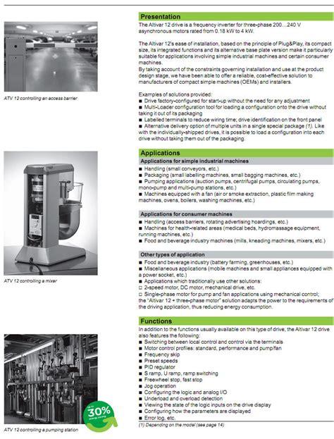 Inverter Schneider Atv12h055m2 055kw altivar 12 q engineering ต วแทนจำหน าย ส นค า แบรนด schneider electric อาท เช น