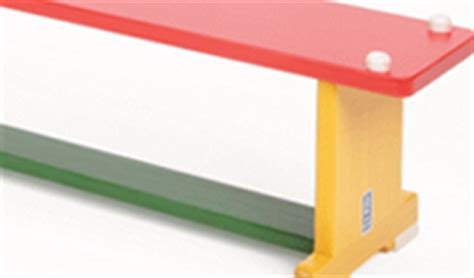 pe benches wooden balance benches with graphics fitness sports