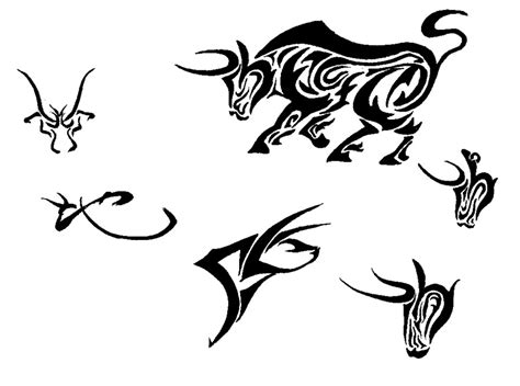 tribal bull head tattoo bull images designs