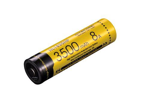 Nitecore 18650 Baterai Li Ion 3500mah 3 6v Nl1835 nitecore nl1835hp high performance 18650 button top battery