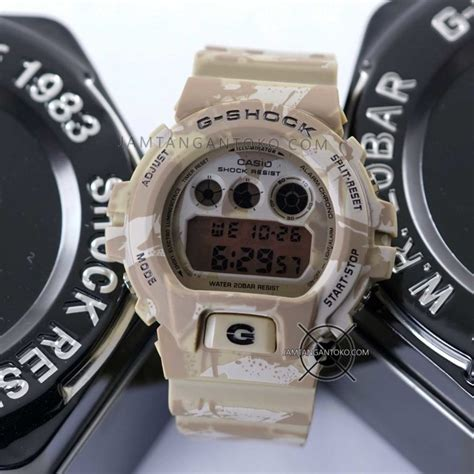 G Shock Army Coklat g shock dw 6900 loreng coklat gurun toko jam tangan