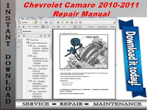 service manual 2011 chevrolet camaro free service manual download download owners manual chevrolet camaro 2010 2011 repair manual youtube