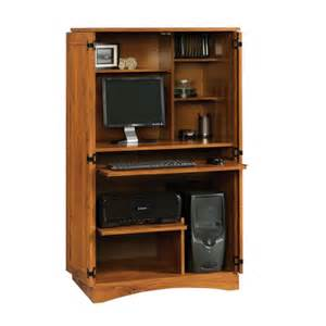 Computer Armoire Furniture Sauder Harvest Mill Computer Armoire 404958 Free Shipping