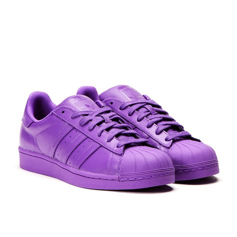 purple adidas sneakers adidas x pharrell williams superstar quot supercolor pack