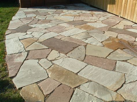 Cut Flagstone Patio by Mortared Cut Patios Bulldawg Yards