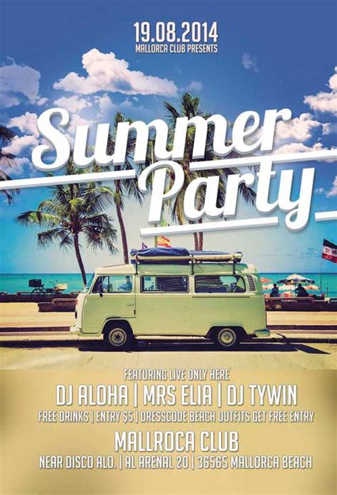 beach party flyer template free yourweek 3995d8eca25e