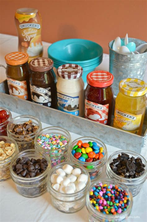 ice cream toppings bar creating an ice cream sundae bar about a mom
