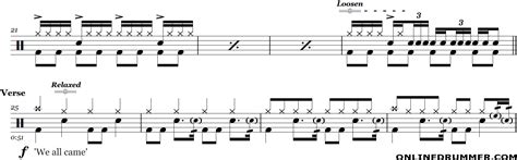 drum pattern for shake it off smoke on the water deep purple drum sheet music