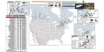 chl map canadian hockey league location maps for whl ohl and