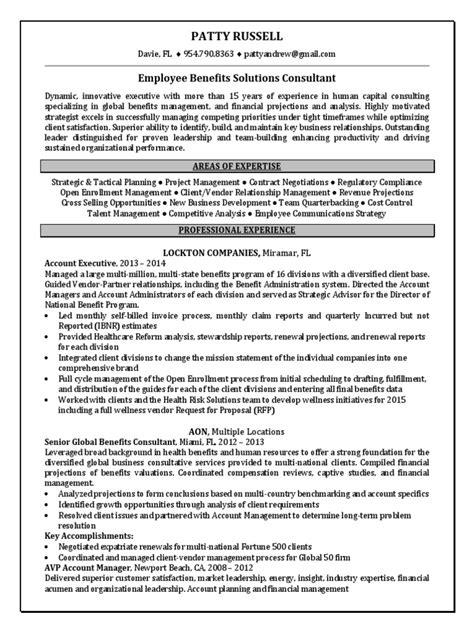 Benefits Consultant Sle Resume sle employee benefits resume