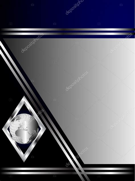 blue card register template a royal blue and silver business card or background