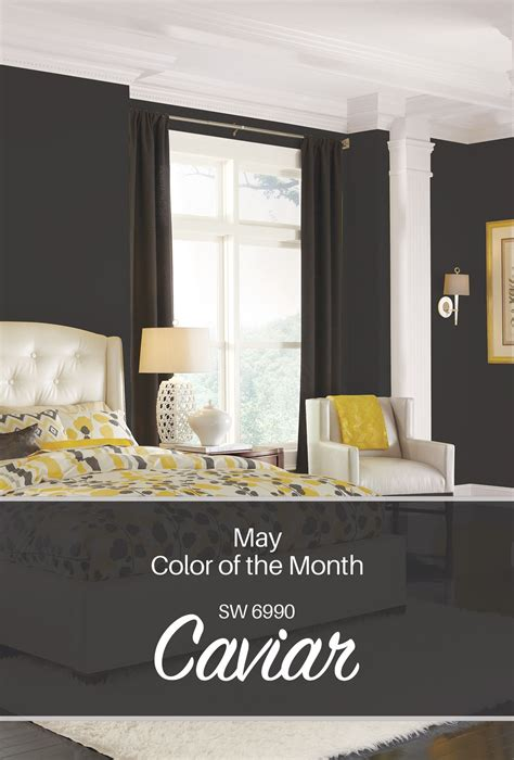 what color is caviar sherwin williams may color of the month caviar sw 6990