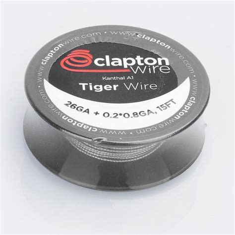 Authentic Wire By Rofvape Tiger 26 Ga A1 0 2 0 8 Flat 118mm authentic claptonwire kanthal a1 tiger wire heating resistance wire