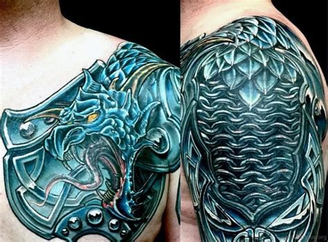 dragon warrior tattoo designs collection of 25 and celtic knot on shoulder