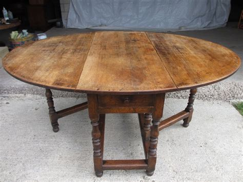 Drop Leaf Gateleg Dining Table Large Oak Oval Gate Leg Drop Leaf Dining Table With Turned Supports And Box Stretcher