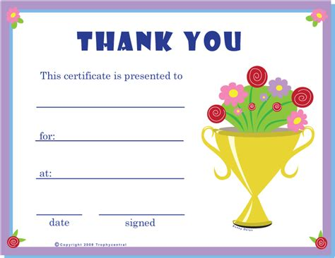 thank you certificate templates free free thank you certificates certificate free thank you