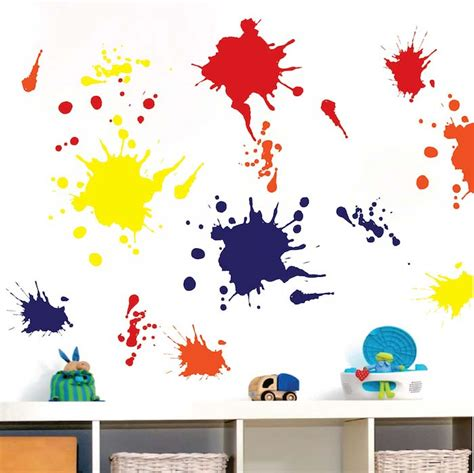 paint stickers for wall ink splash wall decals trendy wall designs