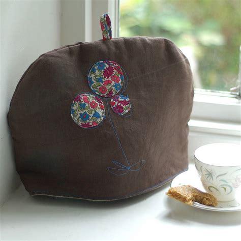 Handmade Tea Cosy - linen tea cosy by handmade at poshyarns