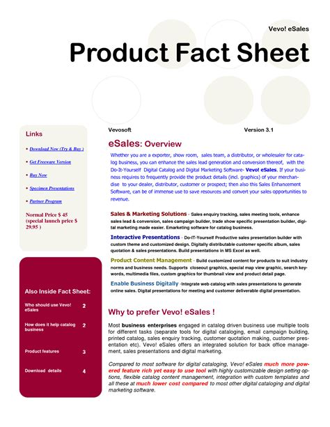 product template best photos of product sales sheet template product