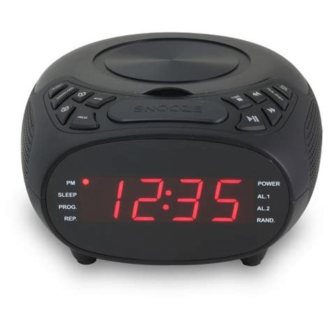 gpx cd clock radio am fm 1 2 quot display dual alarm target
