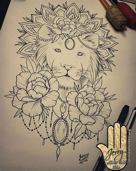 the 25 best lion thigh tattoo ideas on pinterest lion