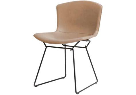 sedia bertoia bertoia knoll side chair in cowhide milia shop