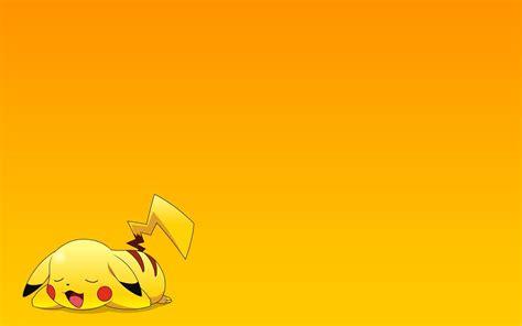 wallpaper anime untuk power point pokemon pikachu yellow background anime series character