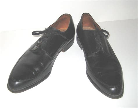 mens black oxford shoes 1960s shoes mens black oxford shoes lace up by bethlesvintage