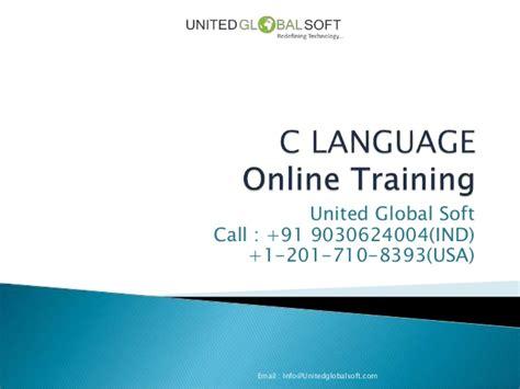 Online Tutorial Of C Language | c language online training in hyderabad