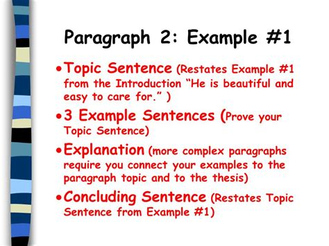 Exle Of A Topic Sentence For An Essay by The Five Paragraph Essay Ppt