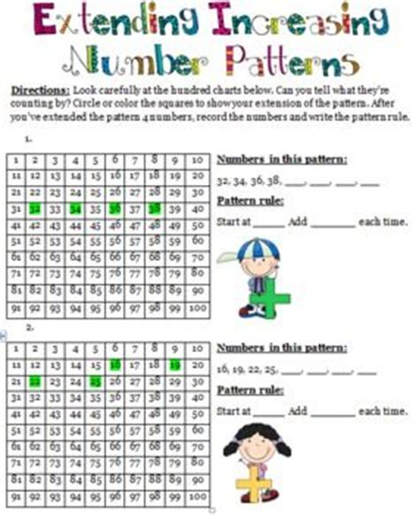 increasing pattern rule pictures rules for and numbers on pinterest