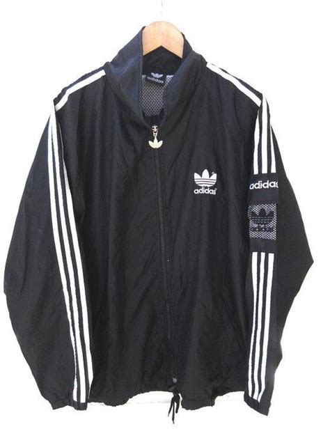 Jaket Adidas Zipper By Snf2012 vintage 90 s adidas big logo white windbreaker by