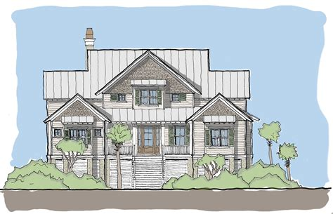 coastal homes plans edisto tide flatfish island designs coastal home plans