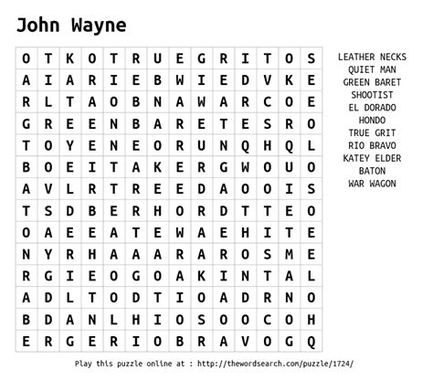 Wayne Search Word Search On Wayne