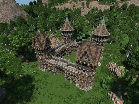 medieval fort build   fort minecraft building