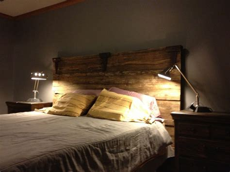 old barn door headboard old barn door headboard for the home pinterest