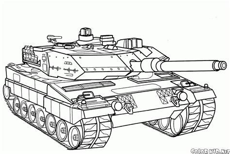 disegni da colorare carri armati