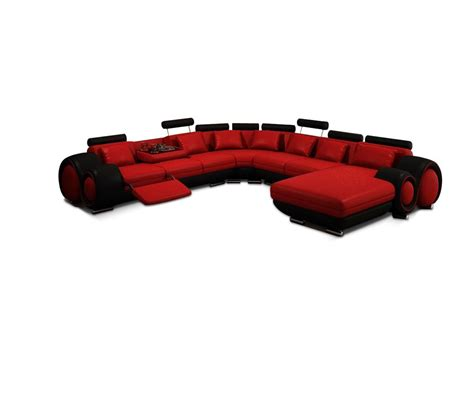 black and red sectional sofa dreamfurniture com contemporary red and black sectional sofa