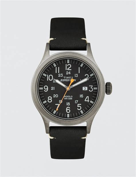Expedition 6710 White Black Leather Original lyst timex expedition scout in black for