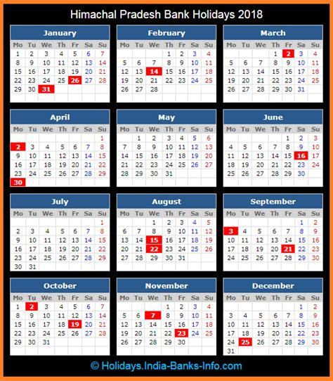 bank holidays a year himachal pradesh bank holidays 2018 india bank holidays