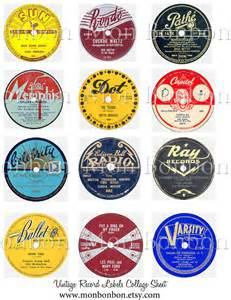 Record Labels Vintage Record Labels Digital Collage Sheet Atc Mixed Media