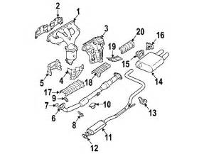 Nissan Altima Exhaust System Diagram 2002 Nissan Altima Parts Buynissanparts