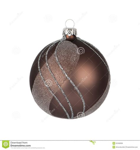 brown christmas bauble stock image image of gold